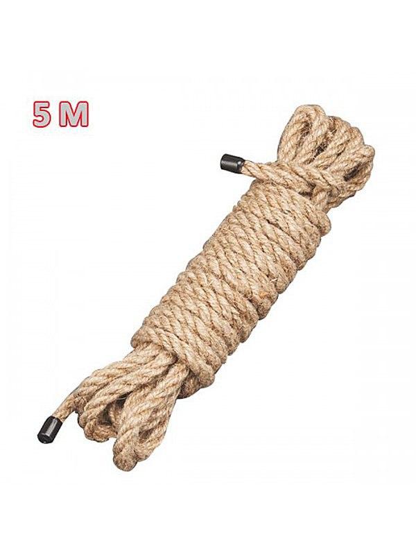 Натуральная веревка для бондажа Sitabella - телесный, 5 м