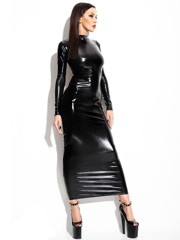 Длинное эффектное платье с оголенной задней частью Demoniq Dorothea – L/XL