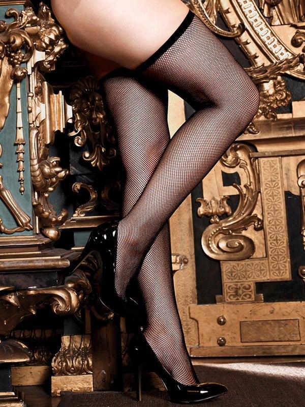 Классические черные чулки в мелкую сетку Criminal Minds - Queen Size