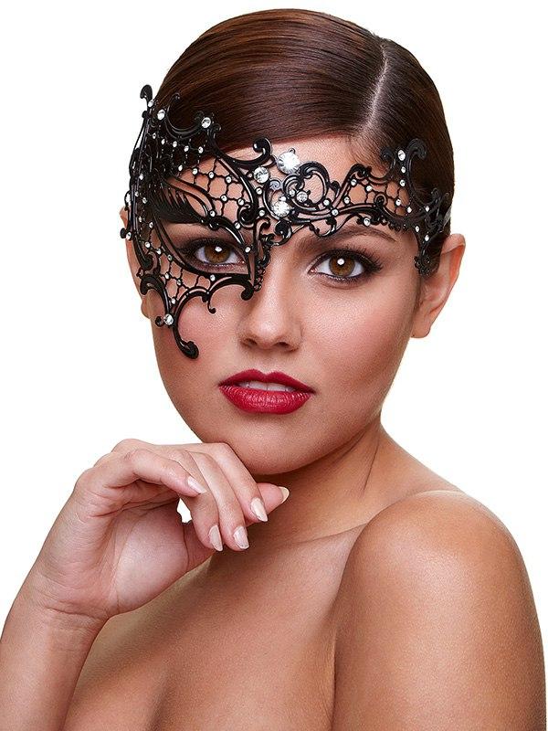 Маска со стразами Mask Seductress – черная