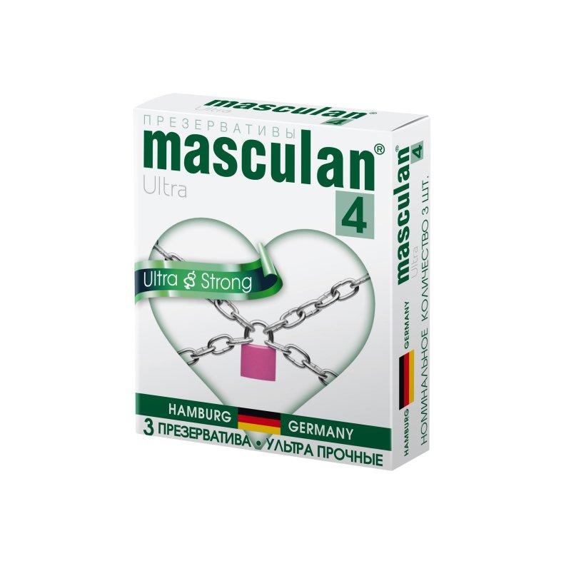 Презервативы Masculan 4 Ultra Ультрапрочные, черные 3 шт