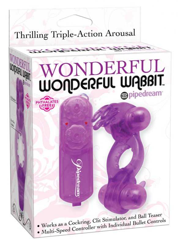 Эрекционное виброкольцо Wonderful Wabbit – фиолетовый