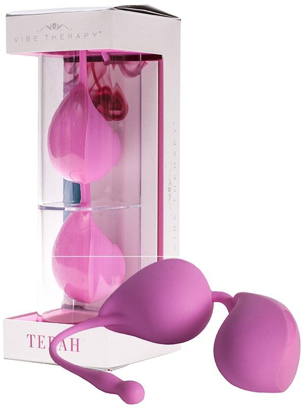 Вагинальные шарики Vibe Therapy Terah со смещенным центром тяжести  розовые