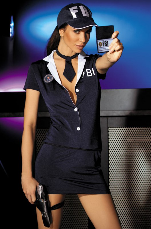 Эротический комплект агент ФБР Caprice Private Agent - L/XL