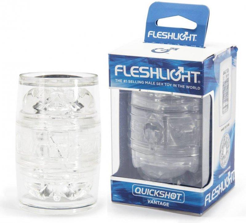 Маструбатор Fleshlight Quickshot Vantage - прозрачный