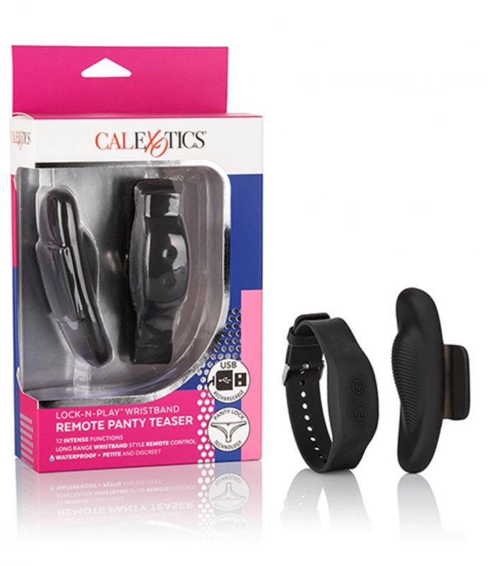 Клиторальный стимулятор Lock-N-Play Wristband Remote Panty Teaser с пультом браслетом - черный