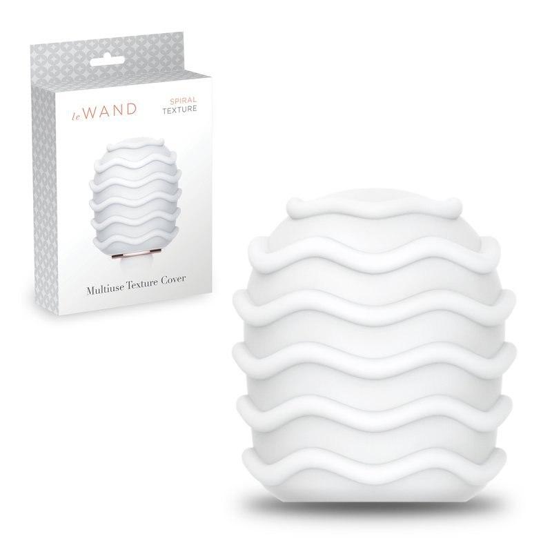 Текстурированная мягкая насадка Spiral со спиральным рельефом для массажера le Wand - белый от Он и Она