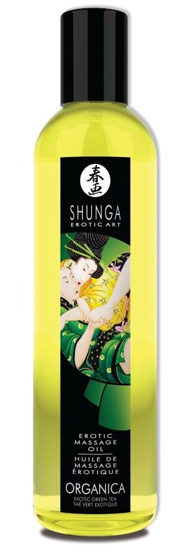 Съедобное массажное масло Shunga Organica «Зеленый чай» - 250 мл