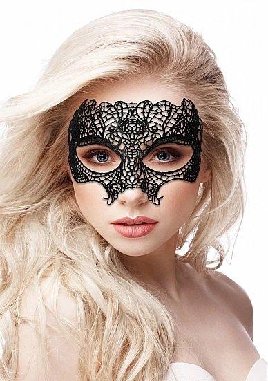Кружевная маска на глаза открытого типа Princess Black Lace Mask