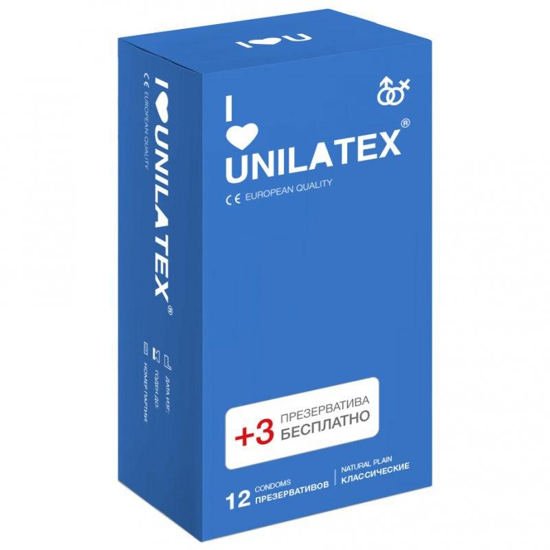 Классические презервативы Unilatex Natural Plain - 12 шт