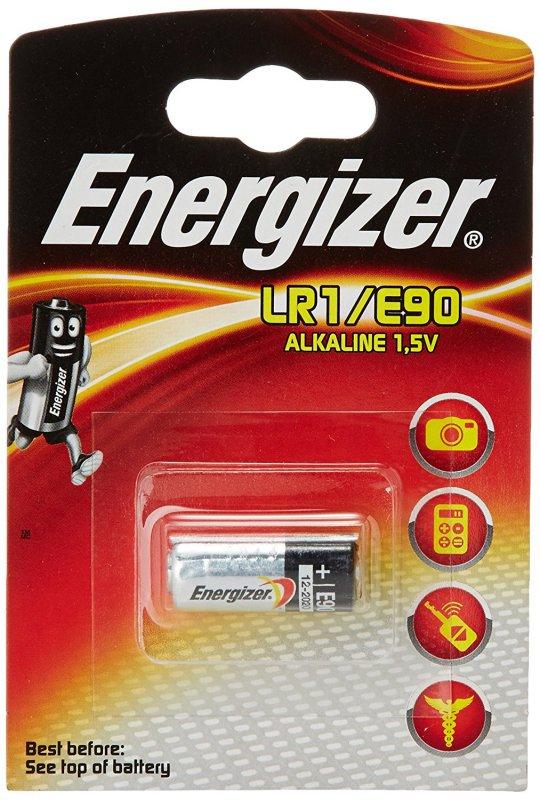 Алкалиновая батарейка Energizer Alkaline LR1/E90 FSB1 mini (23290)