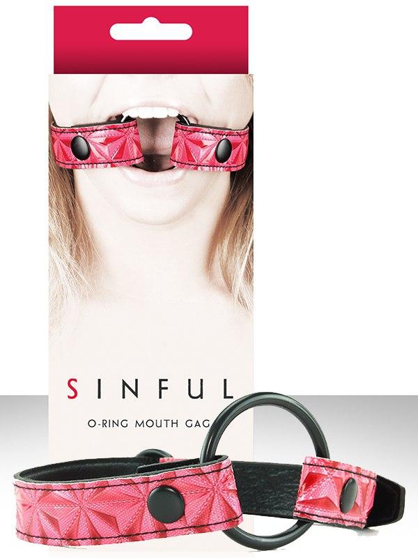 Расширитель для рта Sinful O-Ring Mouth Gag  розовый
