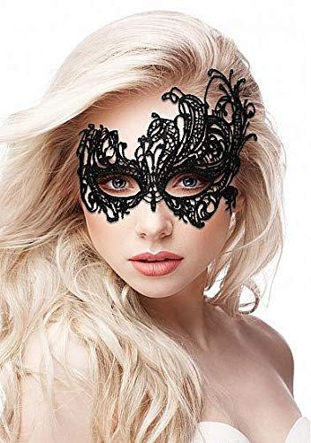 Кружевная маска на глаза открытого типа Royal Black Lace Mask