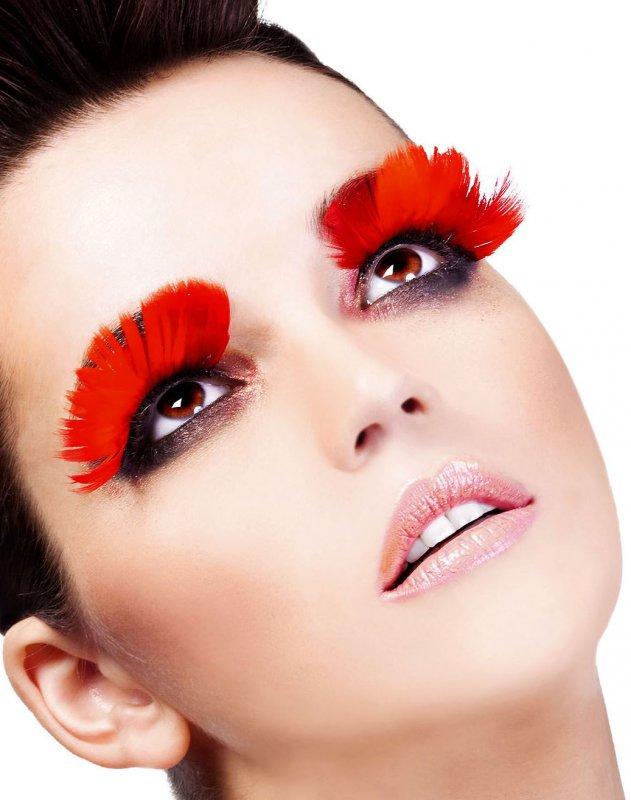 Ресницы перьевые Baci Артам – красный