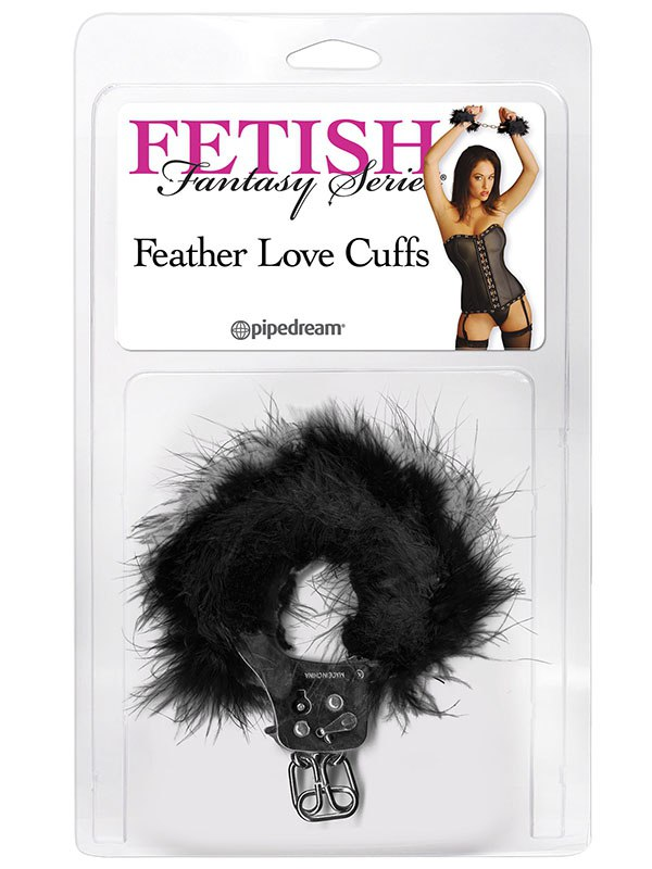 Наручники Feather Love Cuffs – черные (Pipedream, США)