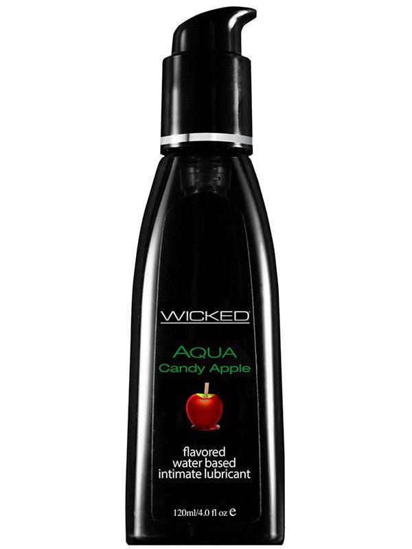 Лубрикант Wicked Aqua Candy Apple со вкусом сахарного яблока – 120 мл