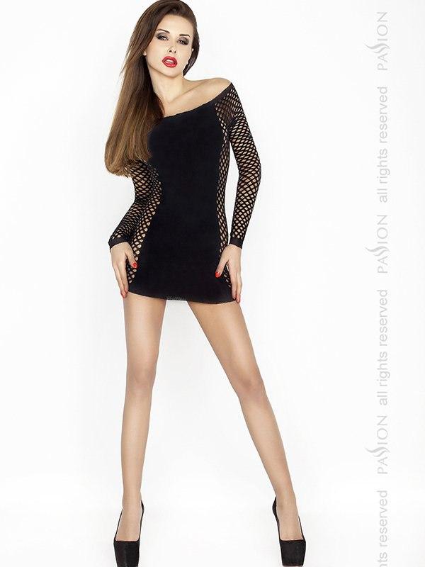 Платье с длинными рукавами Кокетка (Passion)  черный