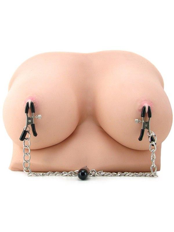 Зажимы на соски с цепью и утяжелителем Heavyweight Nipple Clamps