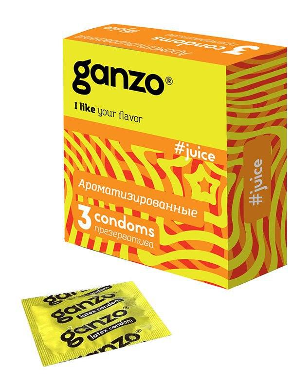 Презервативы Ganzo Juice ароматизированные – 3 шт презервативы ganzo juice 12 шт