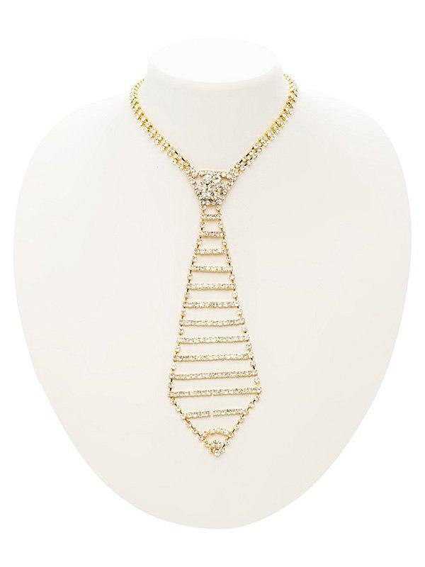 Галстук из кристаллов Ann Devine - Executive Rhinestone Tie – золотой