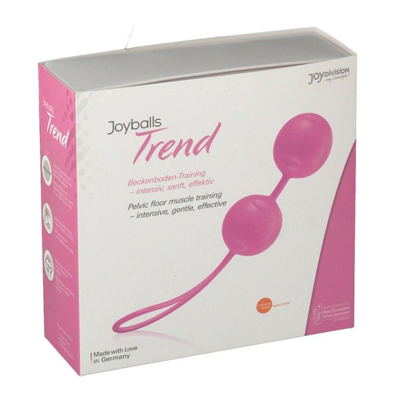 Вагинальные шарики Joyballs Trend со смещенным центром тяжести – светло-розовый