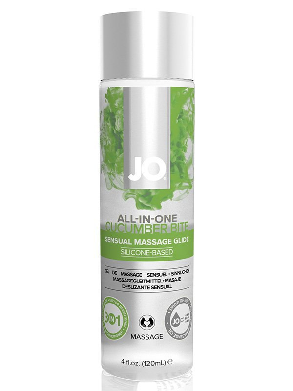 Массажное масло на силиконовой основе All-In-One Cucumber с ароматом огурца  120 мл