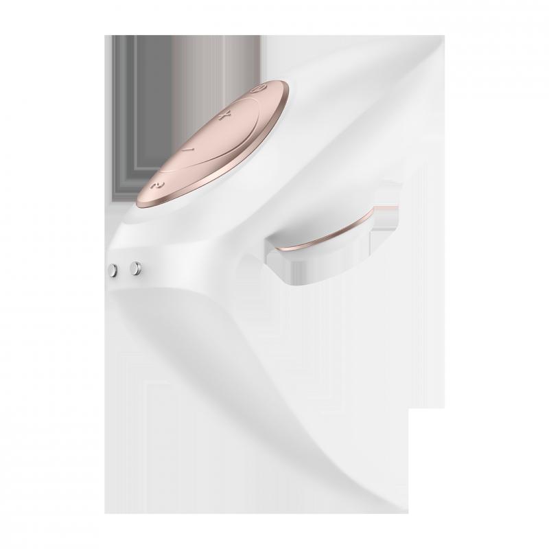 Вакуумно-волновой вибростимулятор для пар Satisfyer Pro 4 Couples – белый с золотом