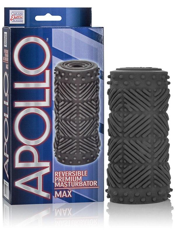 Мастурбатор Apollo Reversible Premium Masturbator Max двусторонний – серый