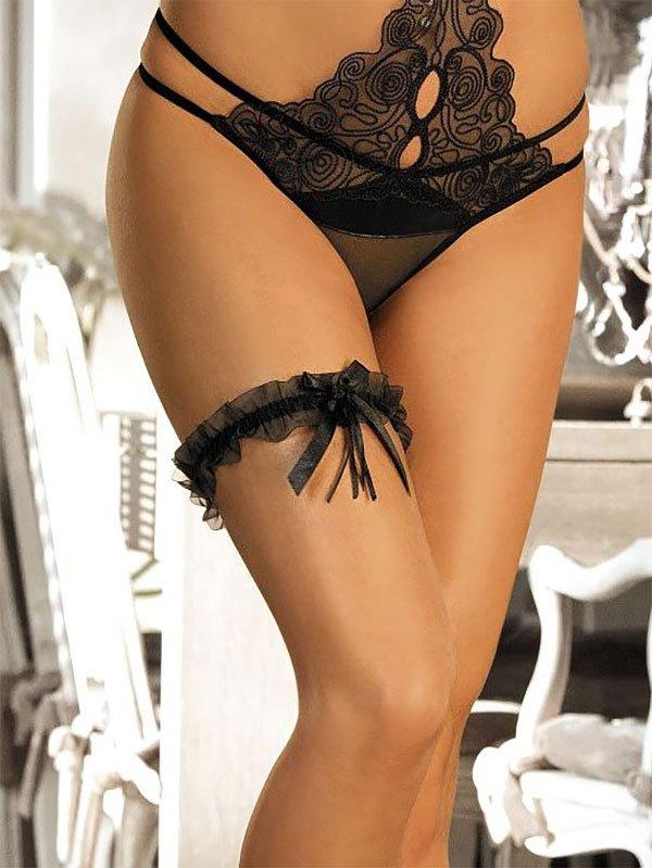 Сексуальная подвязка на ногу Bernice с бантиками