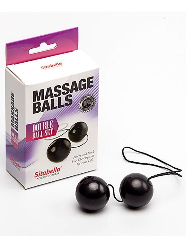 Вагинальные шарики Sitabella Massage Balls пластиковые  черный (СК-Визит, Россия)