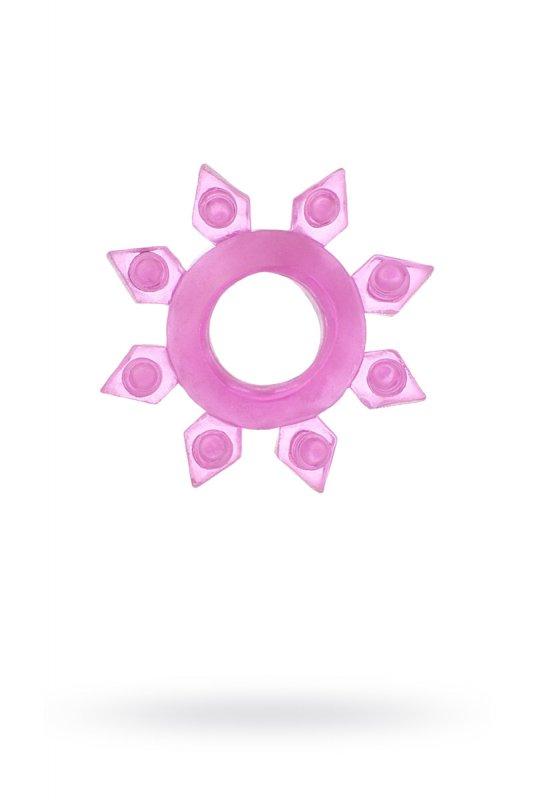 Эрекционное кольцо TOYFA в форме снежинки - розовый
