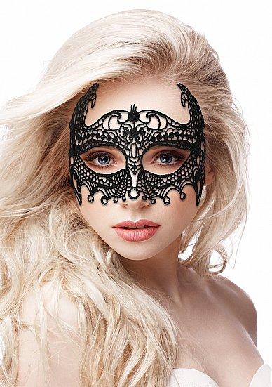 Кружевная маска на глаза открытого типа Empress Black Lace Mask