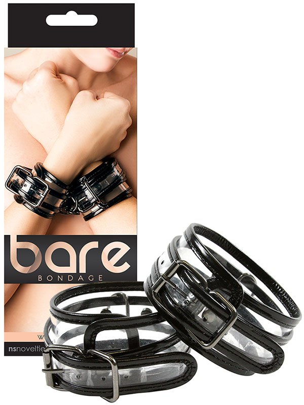 Наручники Bare Bondage Wrist Cuffs виниловые