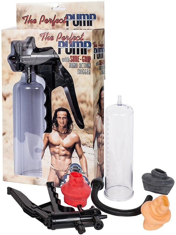 Вакуумная помпа мужская Plastic Pump с тремя уплотнителями – прозрачная pipedream pump worx fanta flesh pussy pump вакуумная помпа с мастурбатором