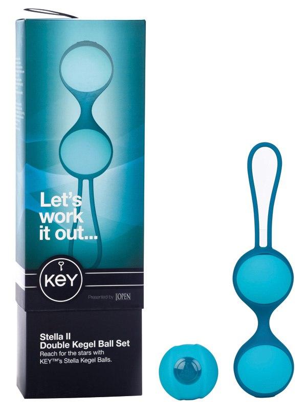 Набор из 3-х вагинальных шариков разного веса Stella II - Blue