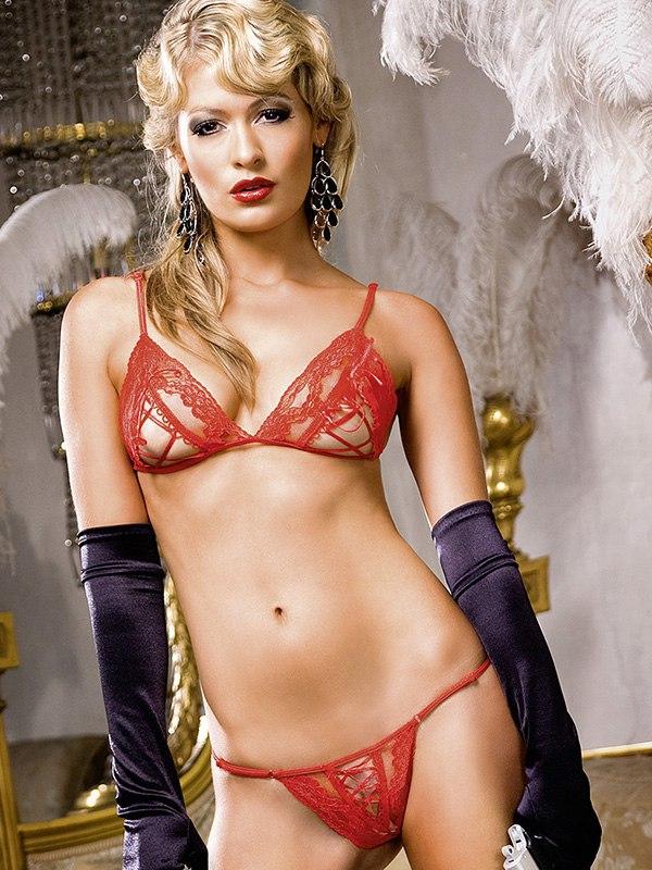Комплект бикини Barbie со шнуровкой - красный (Baci Lingerie, США)