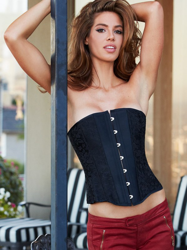 Корсет Essential Satin & Lace Corset – черный, S