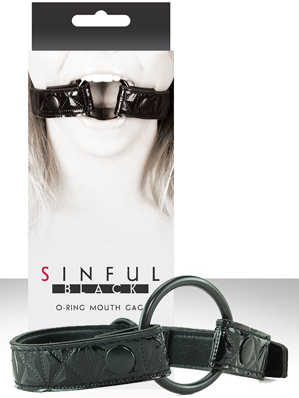 Расширитель для рта Sinful O-Ring Mouth Gag – черный от Он и Она