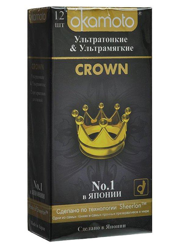 Ультратонкие презервативы Okamoto Crown классические  12 шт