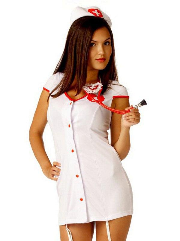 Эротический игровой костюм Le Frivole Доктор Любви – белый, L/XL