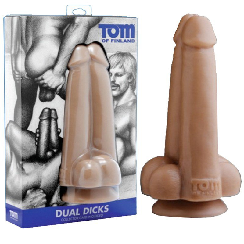 Сдвоенный фаллоимитатор Tom of Finland Dual Dicks – телесный