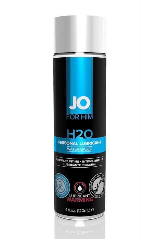 Мужской любрикант на водной основе JO for Men H2О согревающий – 120 мл