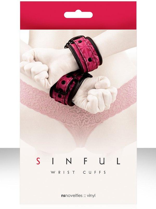 Наручники соединенные цепью Sinful - Wrist Cuffs от Он и Она