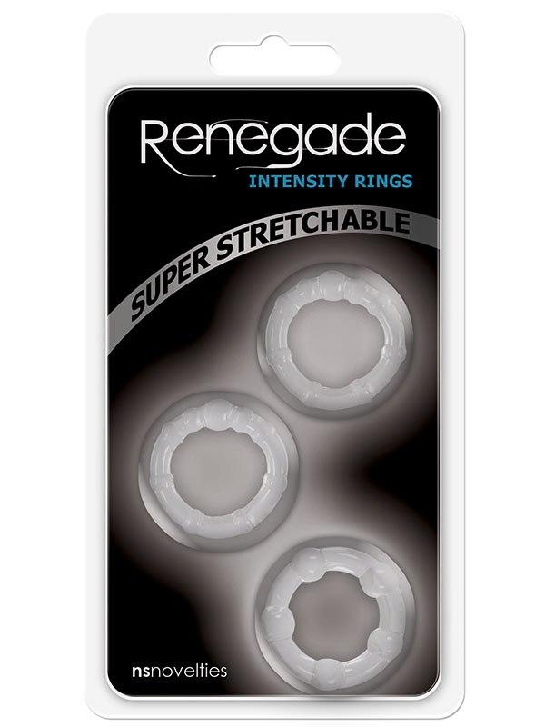 Набор из трех колец на пенис Renegade Intensity Rings – прозрачные