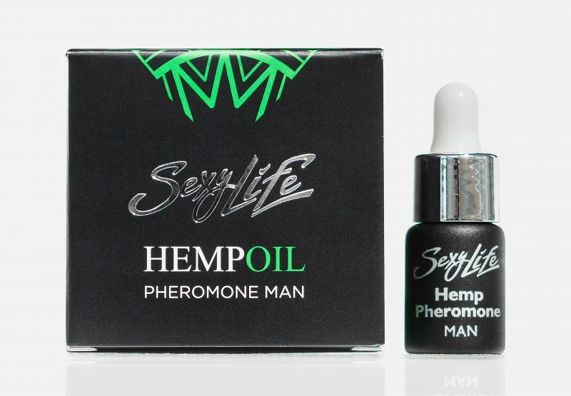 Мужские концентрированные духи Sexy Life HempOil с феромонами - 5 мл