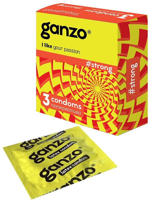 Презервативы Ganzo Strong утолщенные  3 шт