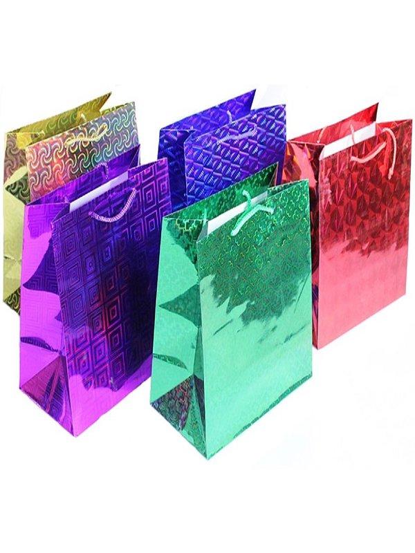 Подарочный пакет с голографическим рисунком (220*310*100)