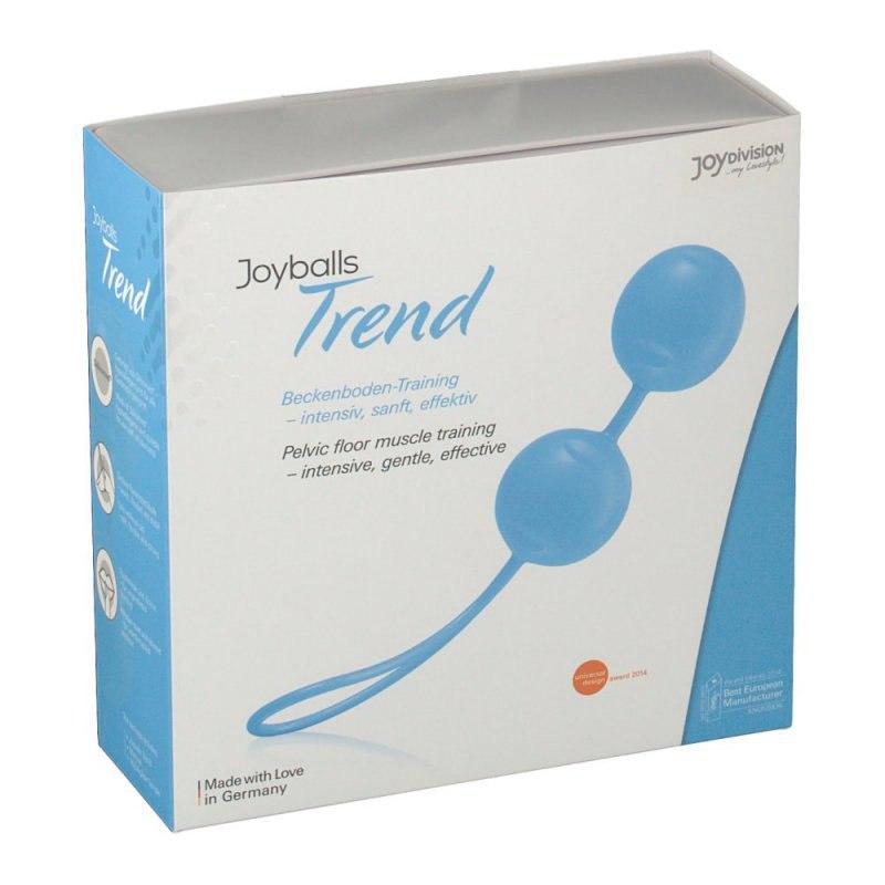 Вагинальные шарики Joyballs Trend со смещенным центром тяжести – голубой