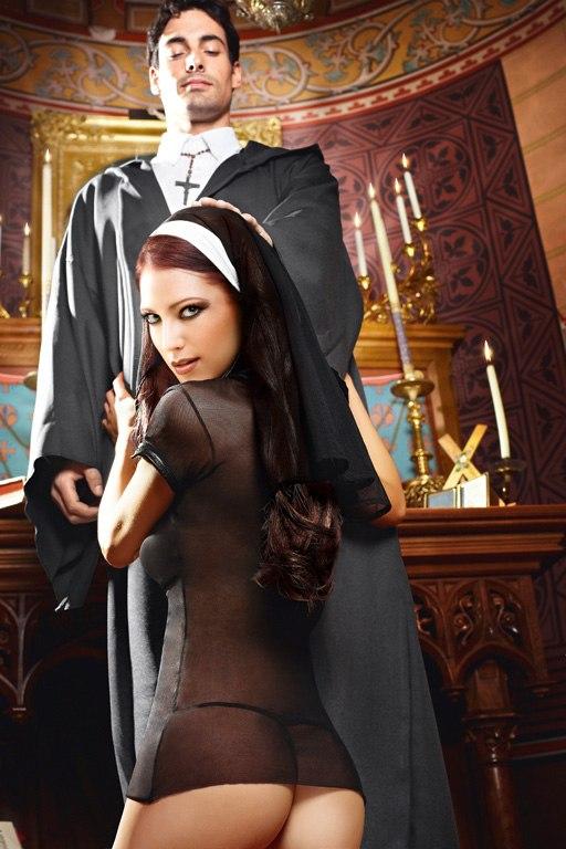 Игровой костюм Сексуальная Монашка - Queen Size от Он и Она