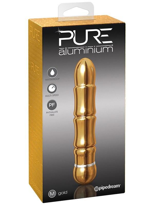 Вибромассажер Pure Aluminium Medium Gold – золотистый